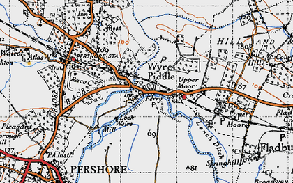 Old map of Wyre Mill in 1946