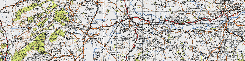 Old map of Wyson Common in 1947