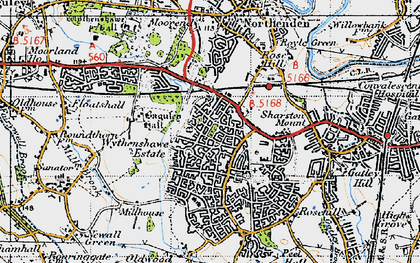 Old map of Wythenshawe in 1947