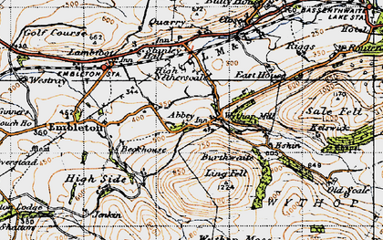 Old map of Wythop Moss in 1947