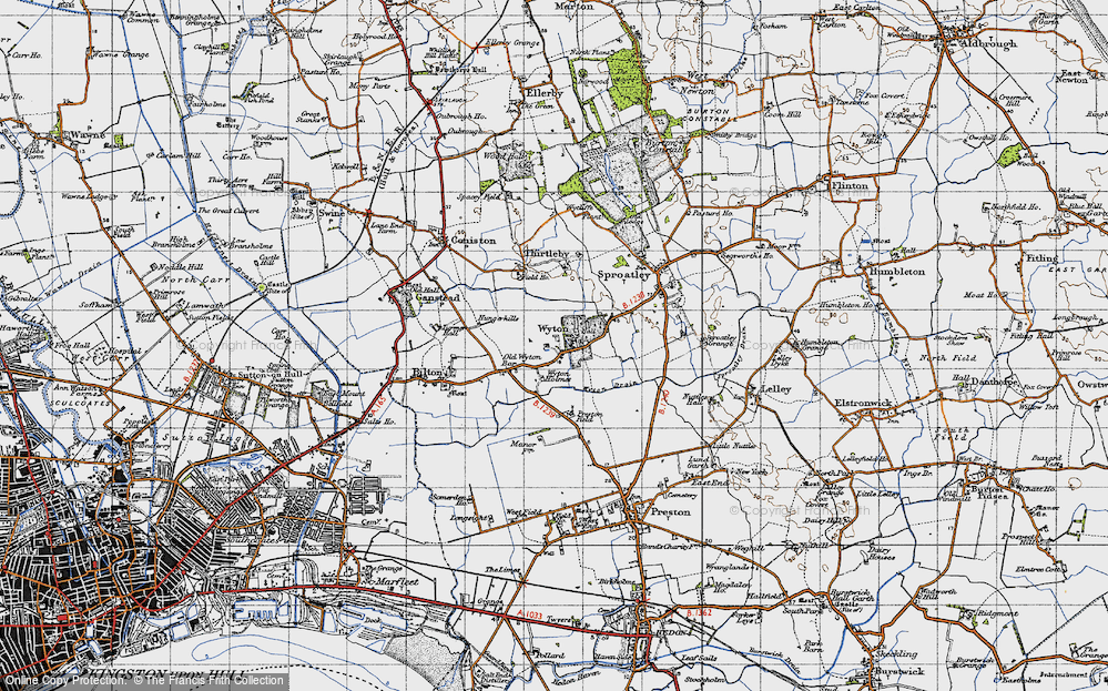 Old Map of Wyton, 1947 in 1947