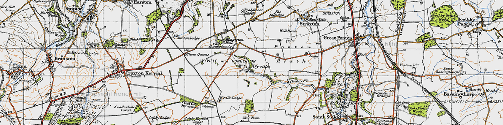 Old map of Wyville in 1946