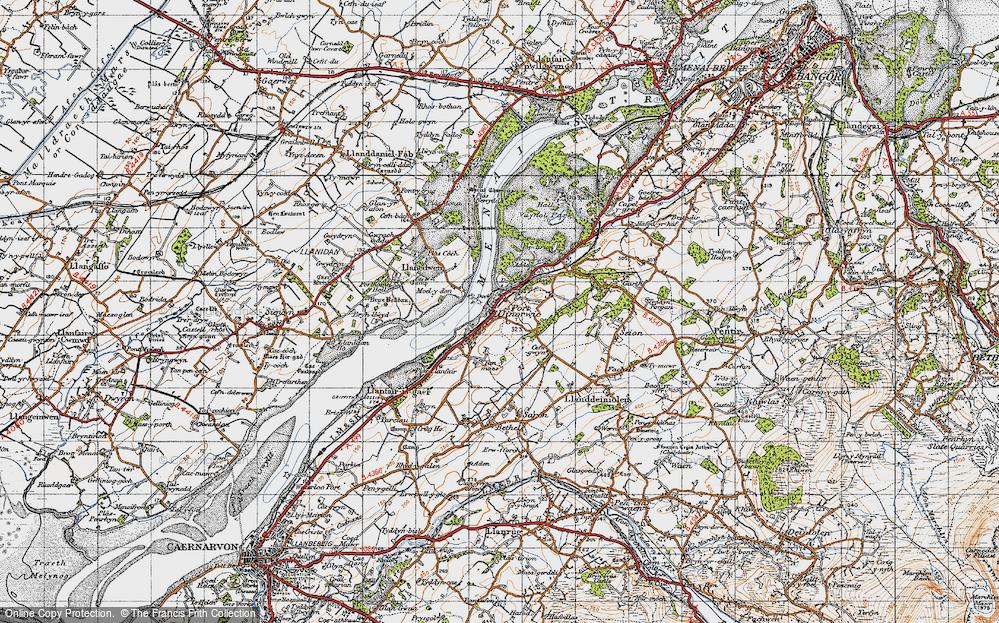 Old Map of Y Felinheli, 1947 in 1947