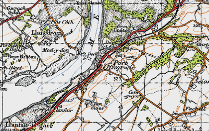 Old map of Y Felinheli in 1947