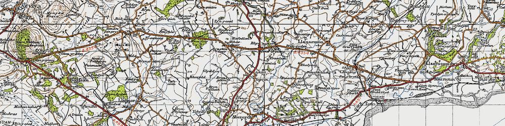 Old map of Y Ffôr in 1947