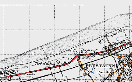 Old map of y-Ffrith in 1947