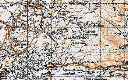 Old map of Afon Drws-y-coed in 1947