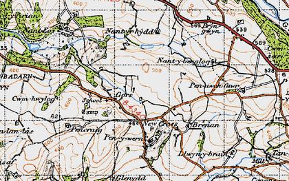 Old map of Gilfach goch in 1947