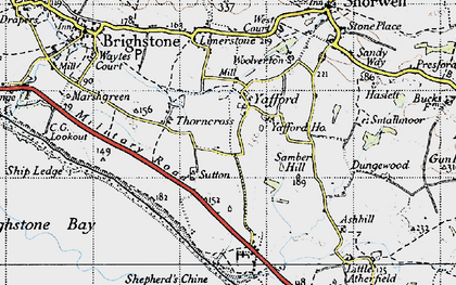 Old map of Yafford in 1945