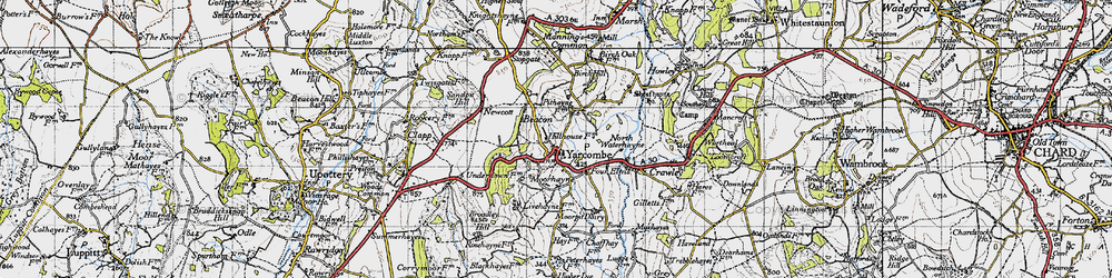 Old map of Yarcombe in 1946
