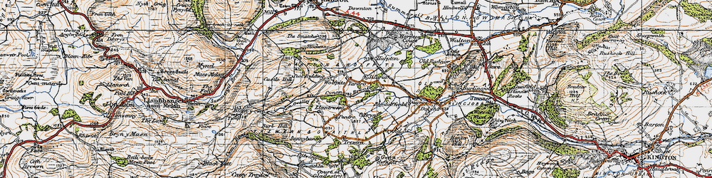 Old map of Wolfpits in 1947