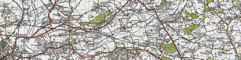 Old map of Yarkhill in 1947