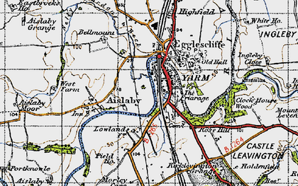Old map of Yarm in 1947