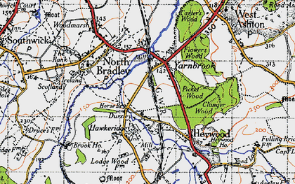 Old map of Yarnbrook in 1946