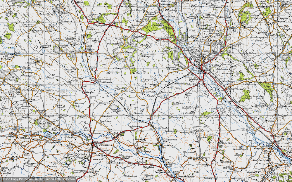 Old Map of Yarnfield, 1946 in 1946