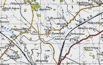 Old map of Yarnfield in 1946