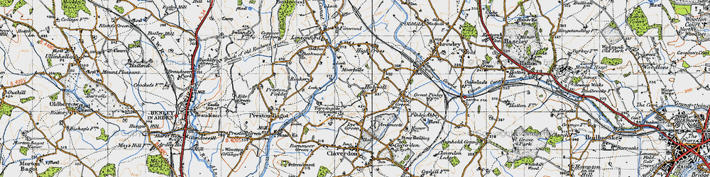 Old map of Yarningale Common in 1947