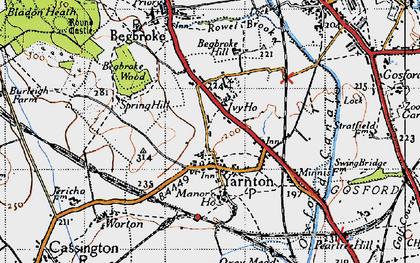 Old map of Yarnton Ho in 1946