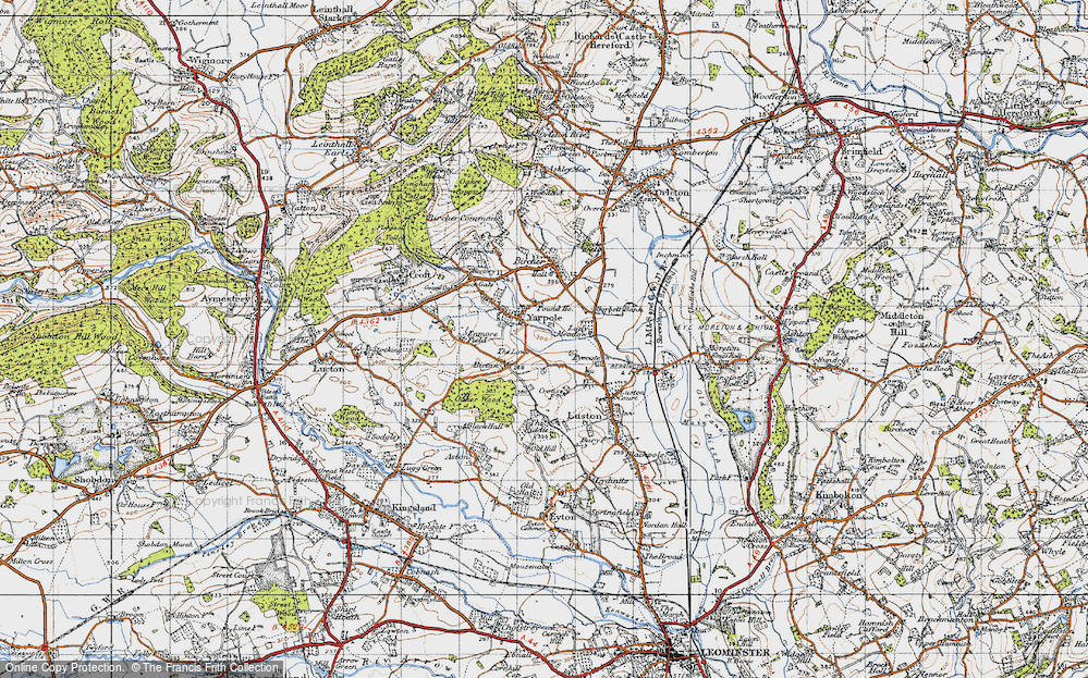 Old Map of Yarpole, 1947 in 1947