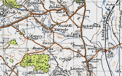Old map of Yarpole in 1947