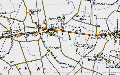 Old map of Yarrow in 1946