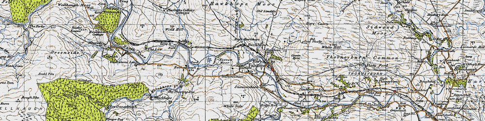 Old map of Yarrow in 1947