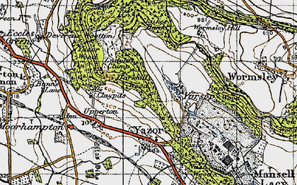 Old map of Yarsop in 1947