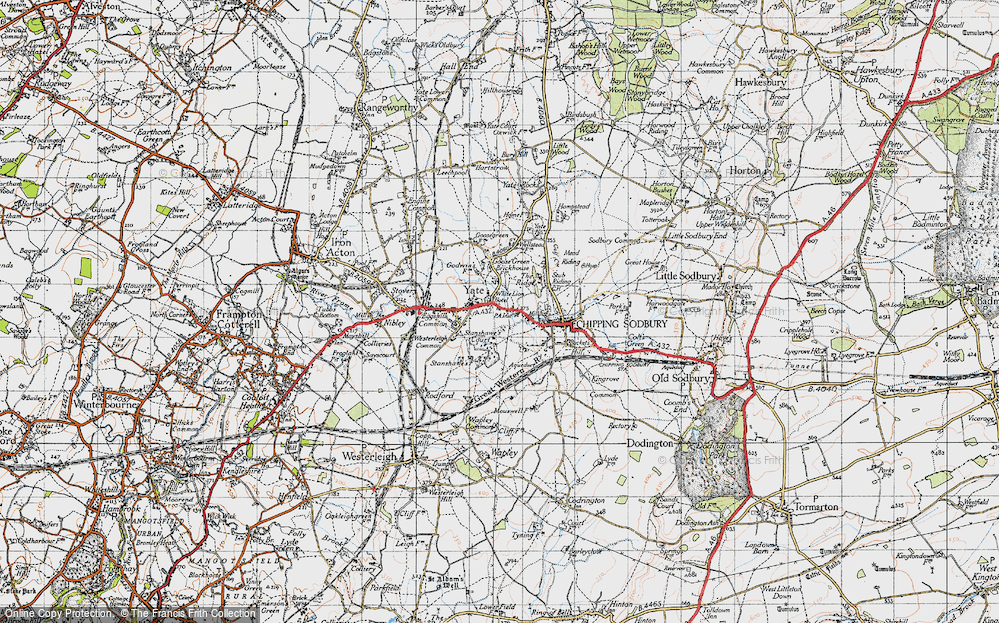 Old Map of Yate, 1946 in 1946