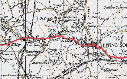 Old map of Yate in 1946