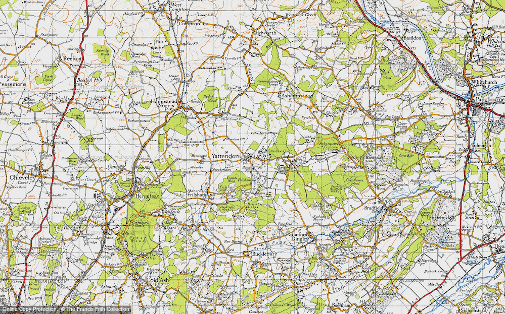 Old Map of Yattendon, 1947 in 1947