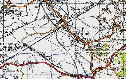 Old map of Yatton in 1946