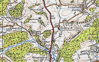 Old map of Yatton Hill in 1947