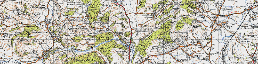 Old map of Leathers, The in 1947