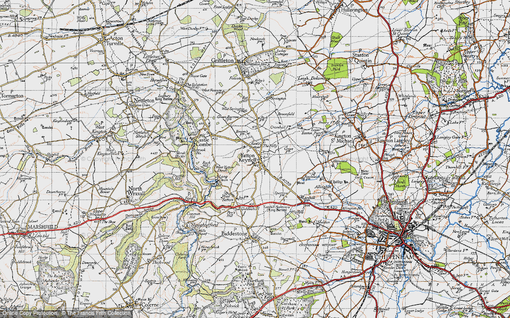 Old Map of Yatton Keynell, 1946 in 1946