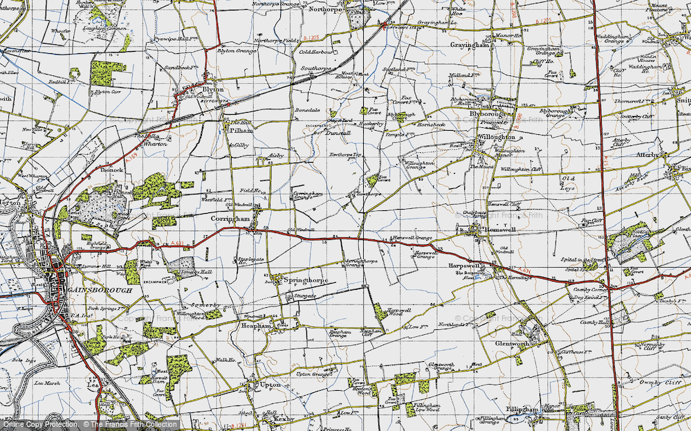 Old Map of Yawthorpe, 1947 in 1947