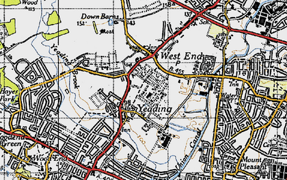 Old map of Yeading in 1945