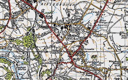 Old map of Yeadon in 1947