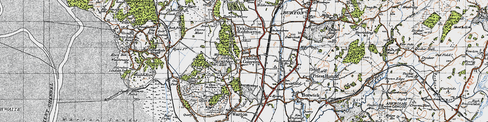 Old map of Leighton Hall in 1947