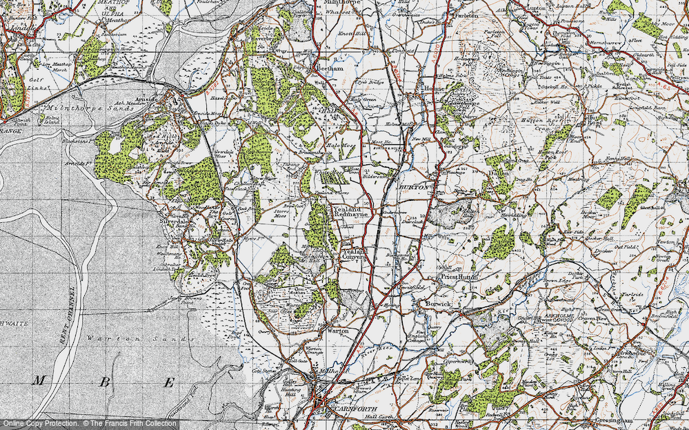 Old Map of Yealand Redmayne, 1947 in 1947