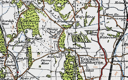 Old map of Leighton Ho in 1947