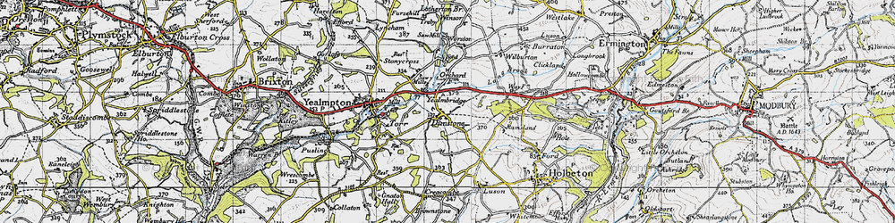 Old map of Yealmbridge in 1946