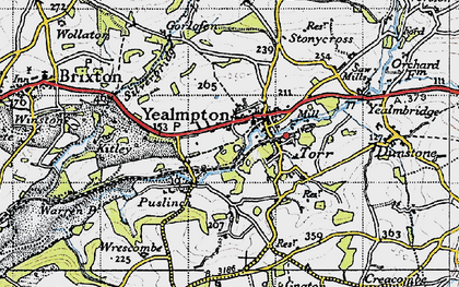 Old map of Wrescombe in 1946