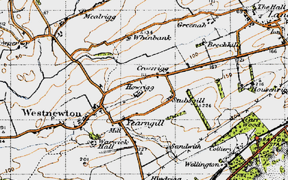 Old map of Yearngill in 1947