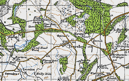 Old map of Yearsley in 1947