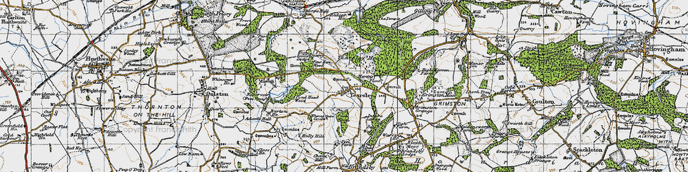 Old map of Yearsley Moor in 1947