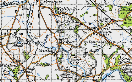 Old map of Yeaton in 1947