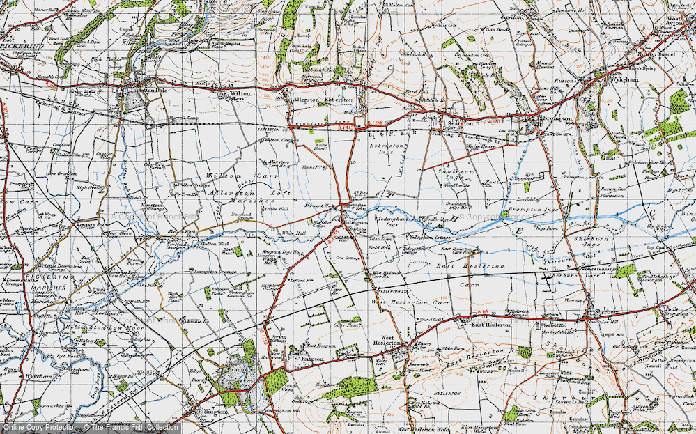 Old Map of Historic Map covering Westfield in 1947