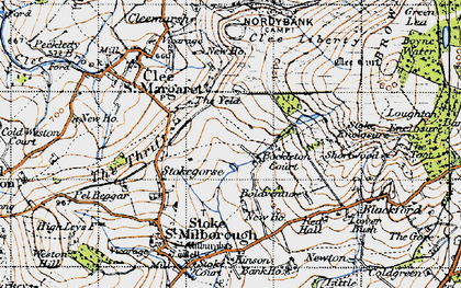 Old map of Yeld, The in 1947