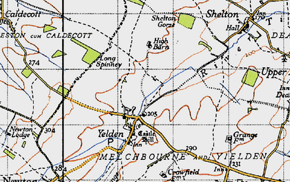 Old map of Yelden in 1946