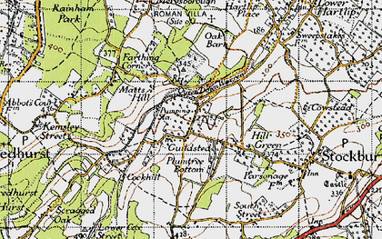 Old map of Yelsted in 1946